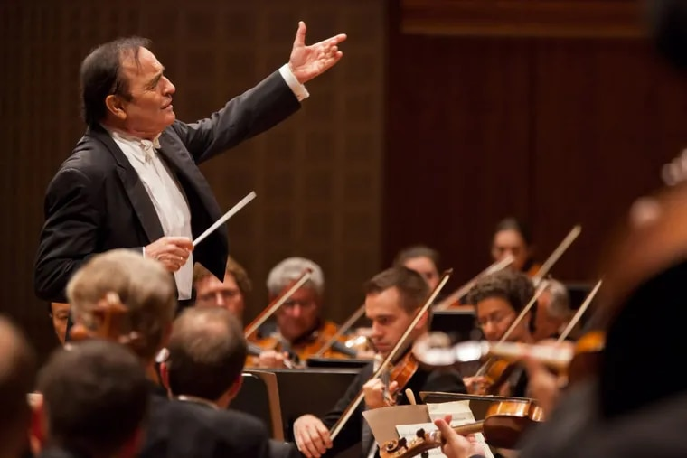 Charles Dutoit leading the Philadelphia Orchestra at the Lucerne Festival in 2011.