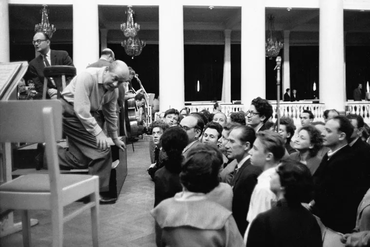 Eugene Ormandy and the Philadelphia Orchestra in Leningrad 1958.