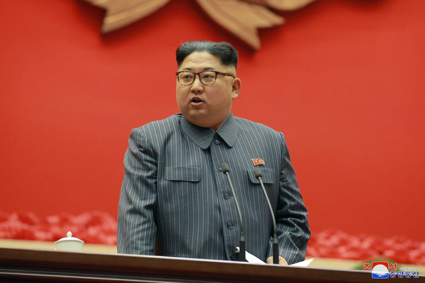 North Korea leader says he has 'nuclear button' but won't use unless threatened