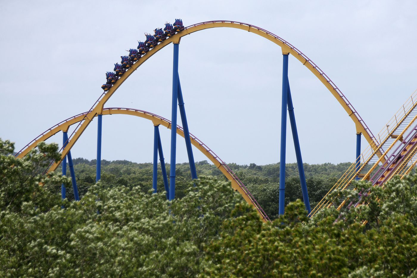 The Nitro roller-coaster at Great Adventure.