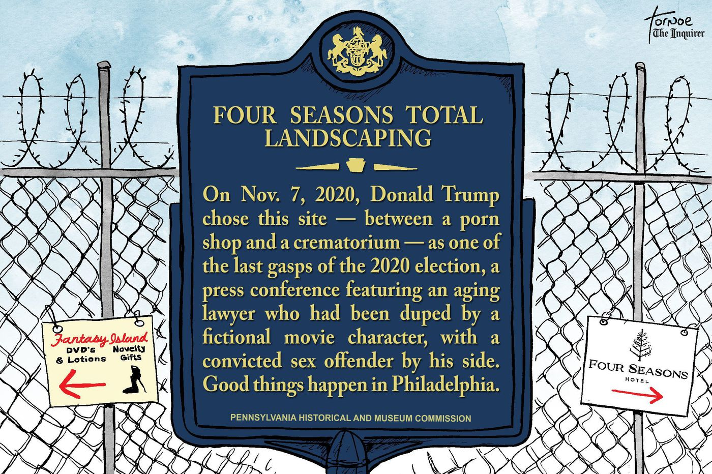 Four Seasons Total Landscaping should be named a historical landmark | Cartoon
