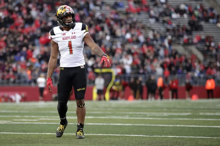 Maryland receiver D.J. Moore, an Imhotep graduate, will lead the Terps against Penn State this Saturday.