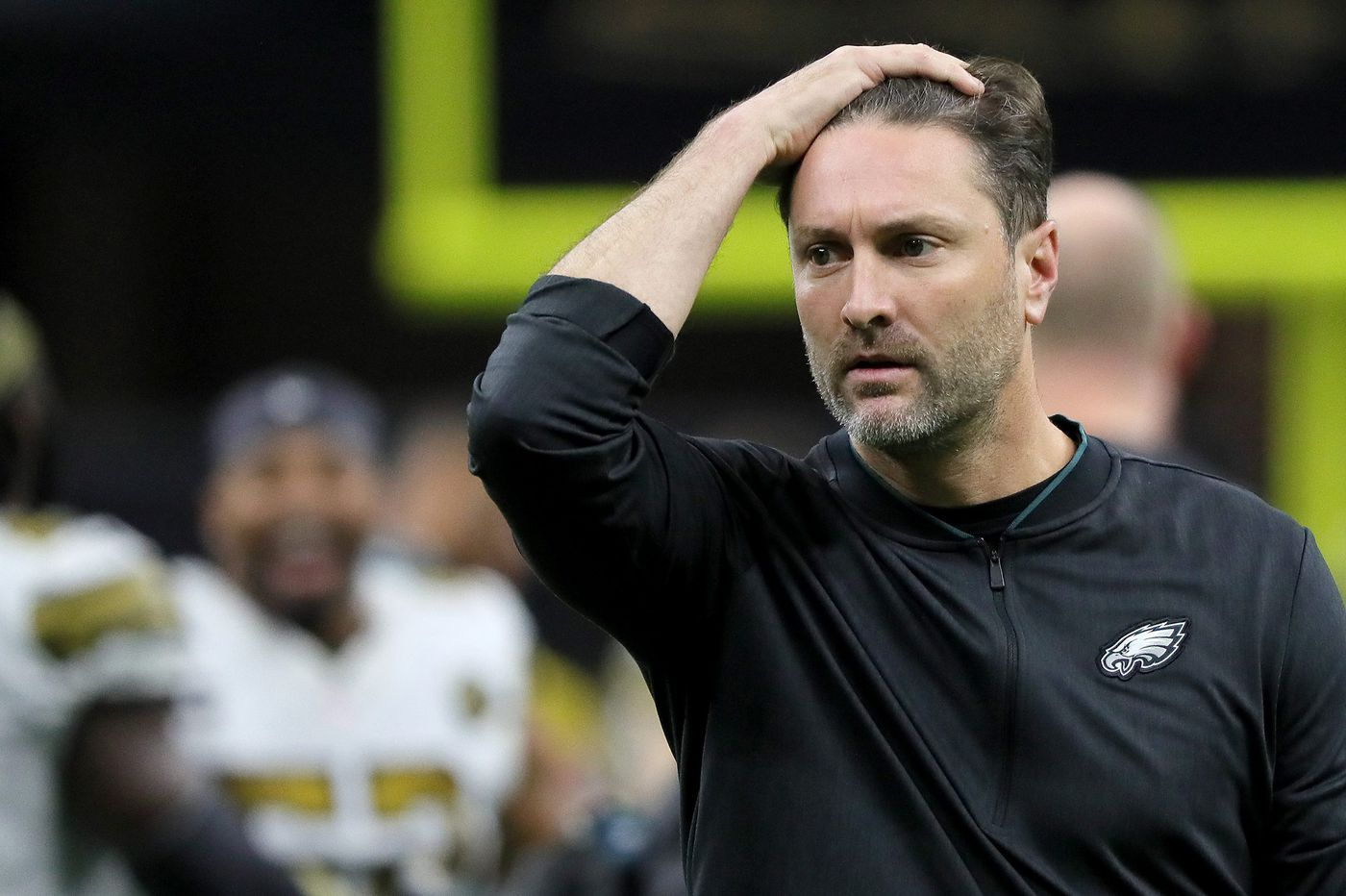 Eagles offensive coordinator Mike Groh is struggling with integrating Golden Tate, among other things