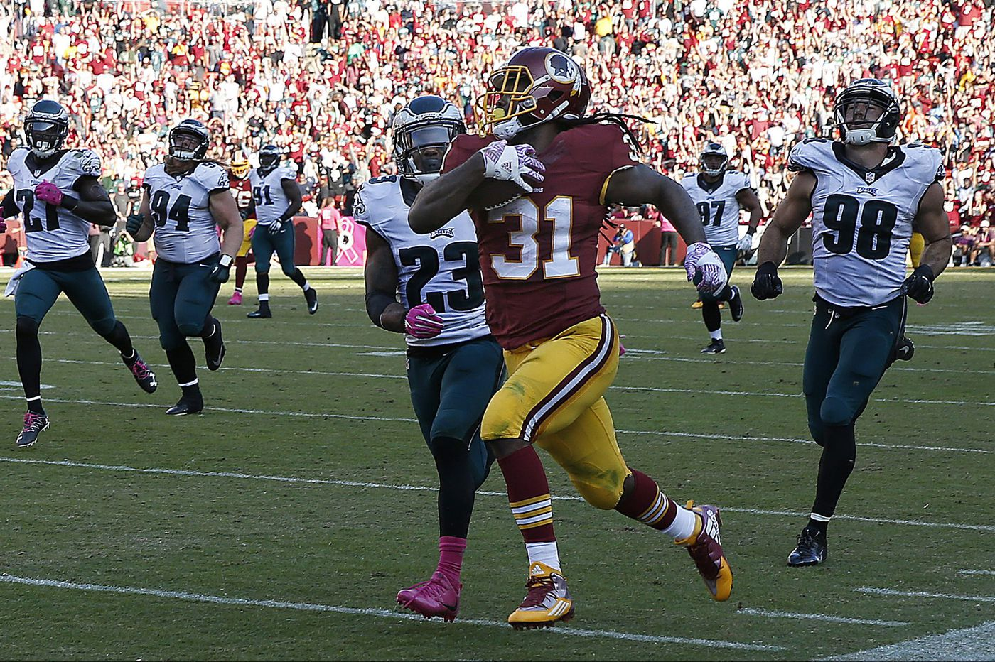 Matt Jones says he's ready to carry the load for Eagles at New England