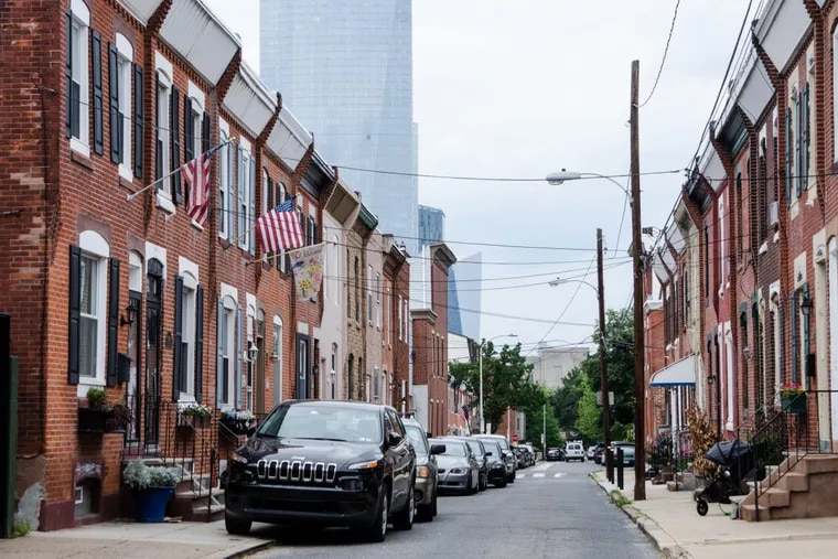 Homes along Taney Street in Southwest Center City. The area has become one of the hottest in the city, in terms of both home sales and values.