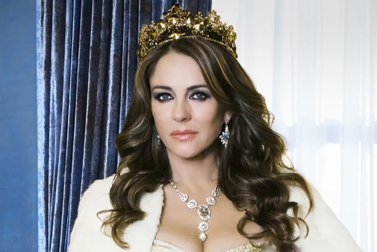 """Elizabeth Hurley as Queen Helena in E!'s """"Royals"""". (Photo by Frank W. Ockenfels 3/E! Entertainment)"""