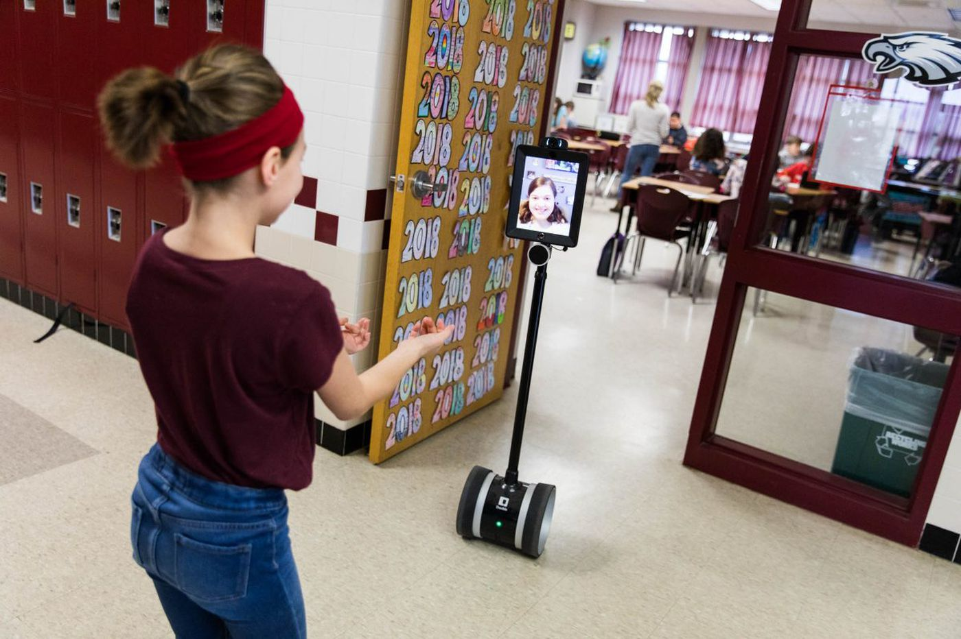 Robot 'double' allows sick students to attend school, see friends