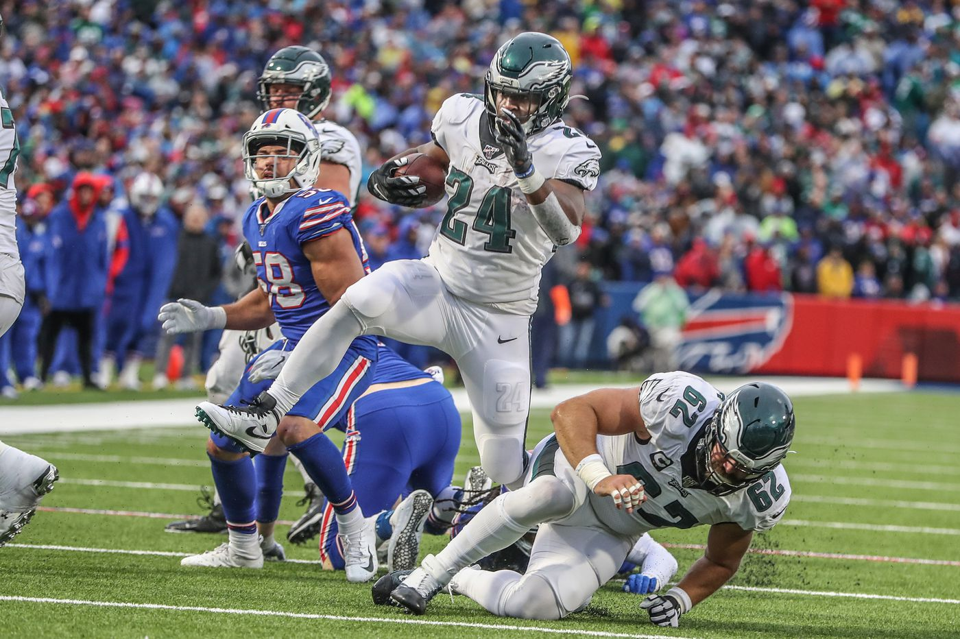 Eagles' rare double-digit lead enabled their run-first attack, potent pass rush against Buffalo Bills