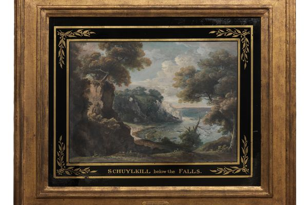 Extraordinarily rare watercolor of the Schuylkill is now part of PAFA's collection