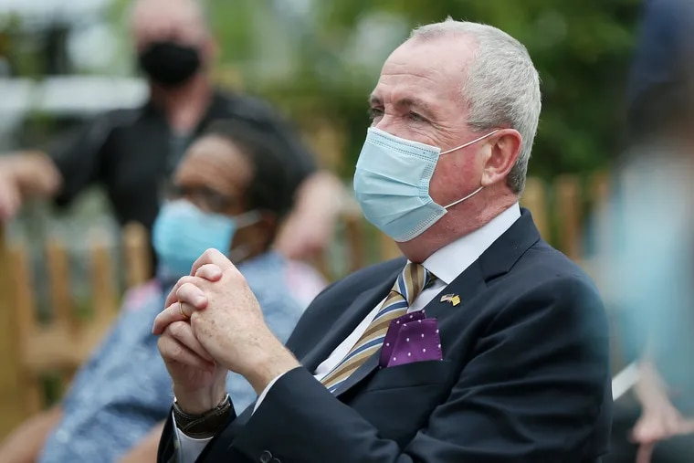 Gov. Phil Murphy listens during the opening ceremony for the Harriet Tubman Museum in Cape May in September.