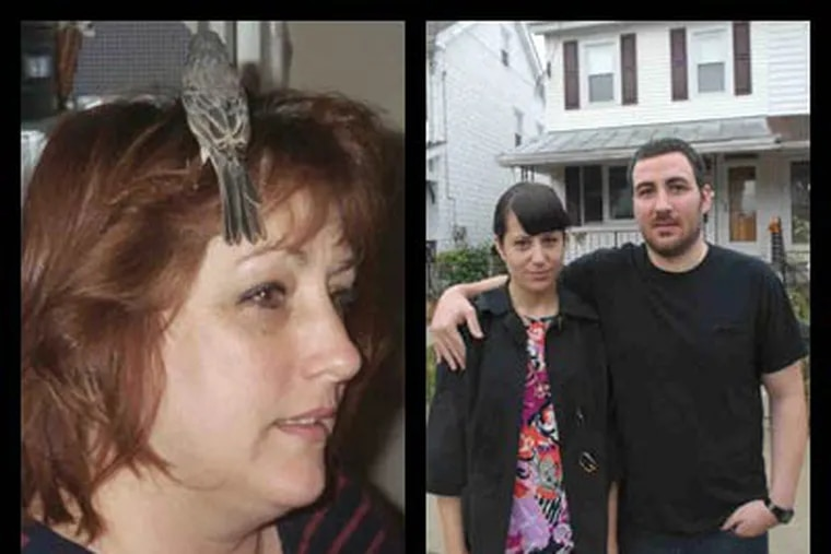 Pati Mattrick, left, lost her finch when state game officials confiscated it. Rob Quigley and Jenn Friberg bought a house that had been a meth lab.