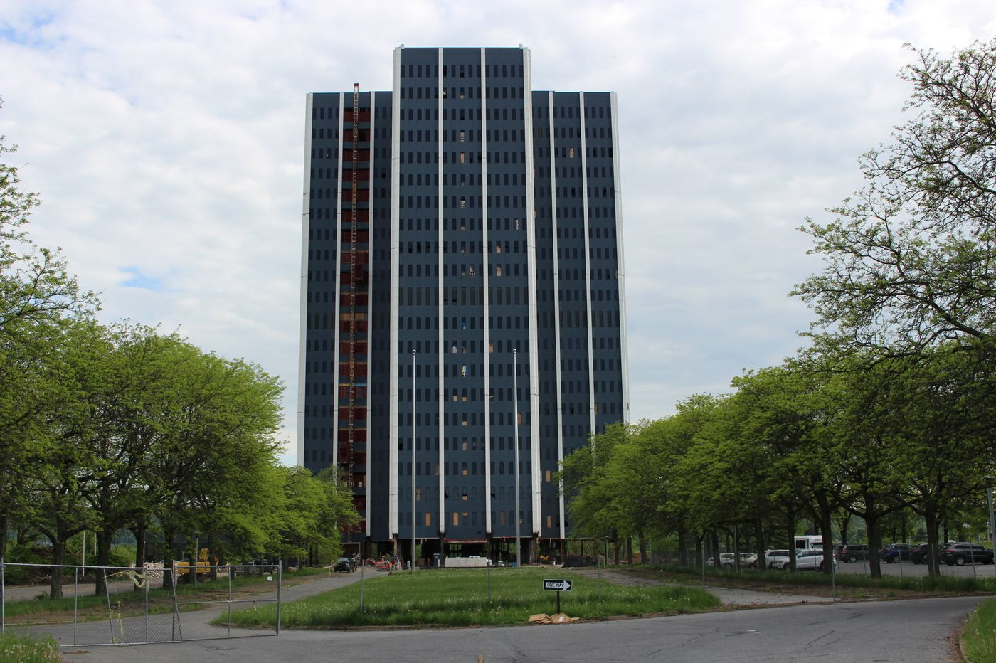 Defunct Martin Tower, former world HQ of Bethlehem Steel, demolished