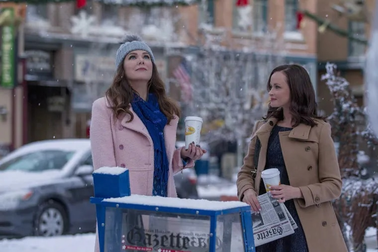 'Gilmore Girls: A Year in the Life': Season 1.  Lauren Graham as  Lorelai Gilmore (left) and  Alexis Bledel  as Rory Gilmore.