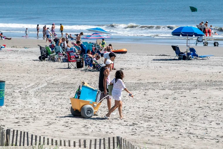 Beachgoers enjoy Labor Day in Sea Isle City as New Jersey's summer season comes to a close.