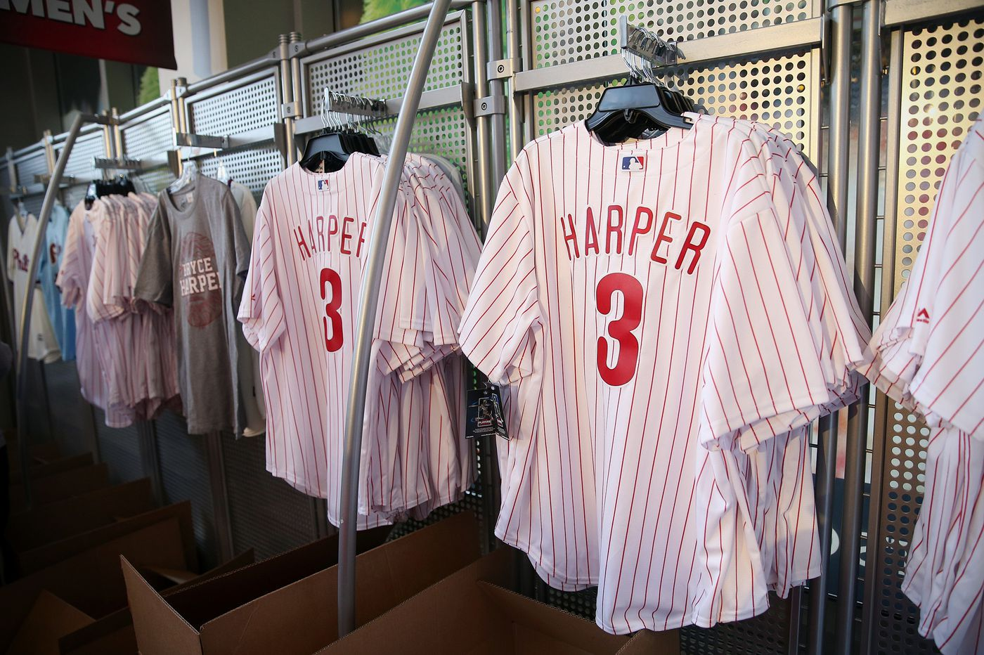 low priced ff51f 50cae Bryce Harper Phillies jersey sales break record in first 24 ...
