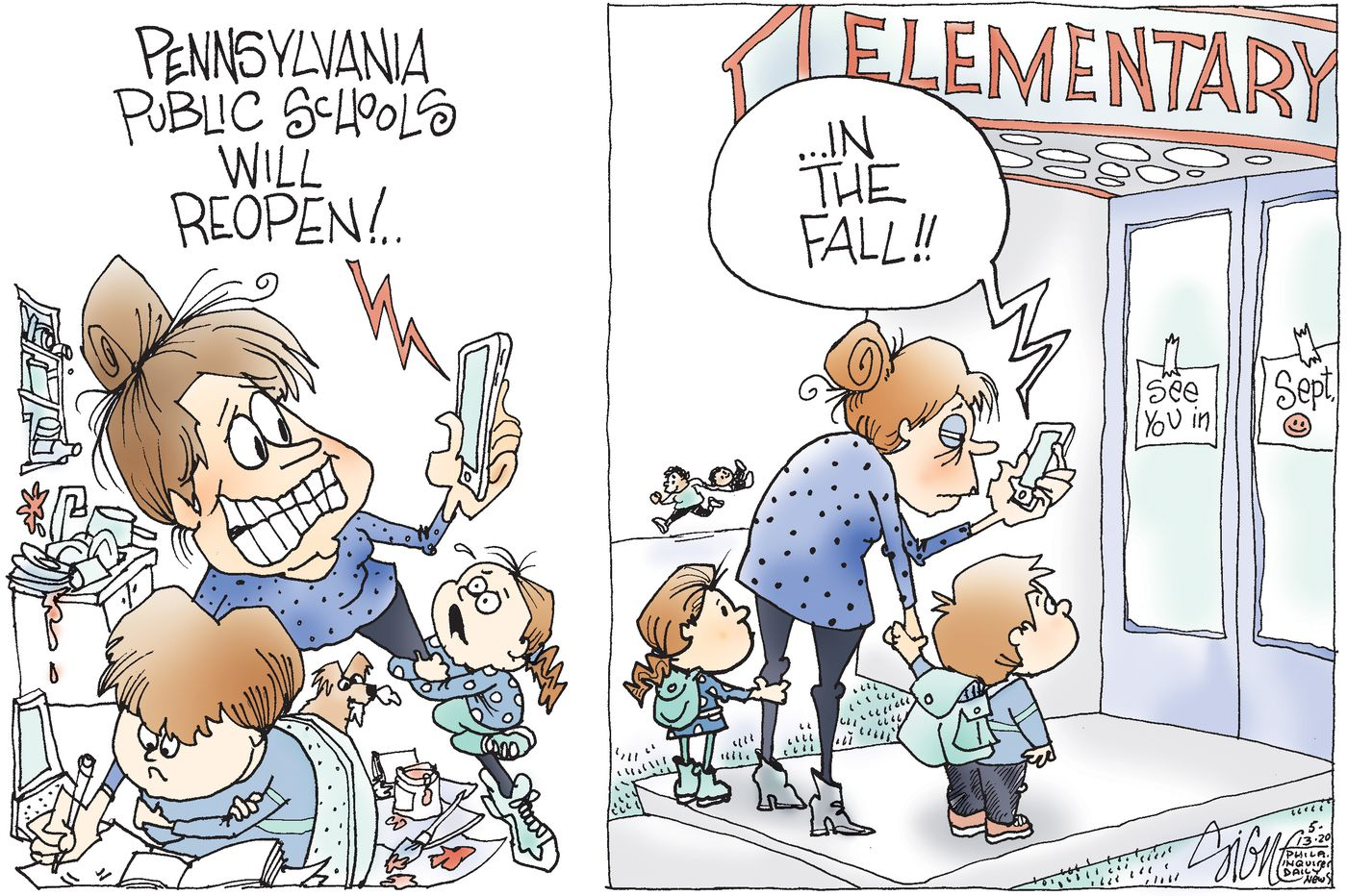 Political Cartoon: Home schooling wears thin