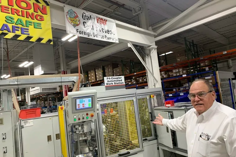 Al Frattarola is global engineering director at Southco, a Concordville company that makes overhead-compartment switches for Boeing 737 MAX jets, and many other parts for manufacturers at its plants around the world