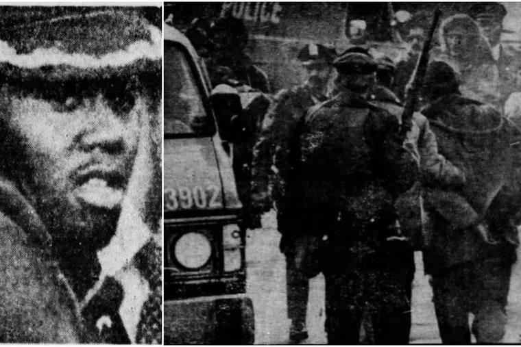 Robert Lark, left, and during his arrest in 1980.