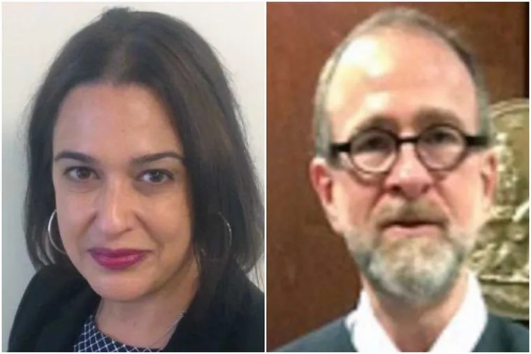 """Vanessa Natale, daughter of former Philly mob boss Ralph Natale, is accused of """"strong-arming"""" Jesse Goode (right), an administrative law judge."""